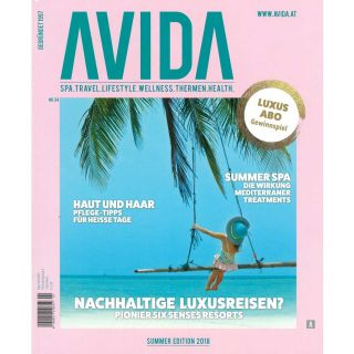 http://www.avida.at|Avida Summer Edition 2018 Cover