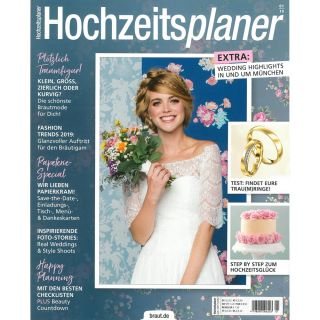 https://www.braut.de|Hochzeitsplaner 01/19 Cover